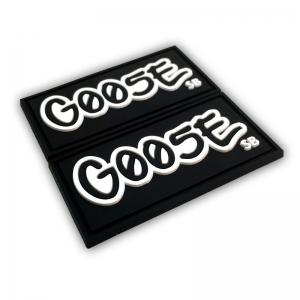 Goose PVC Label - Black