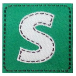 A small woven tag for children's products