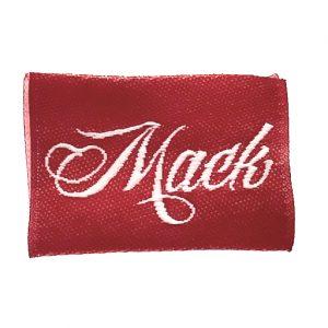 mack name label
