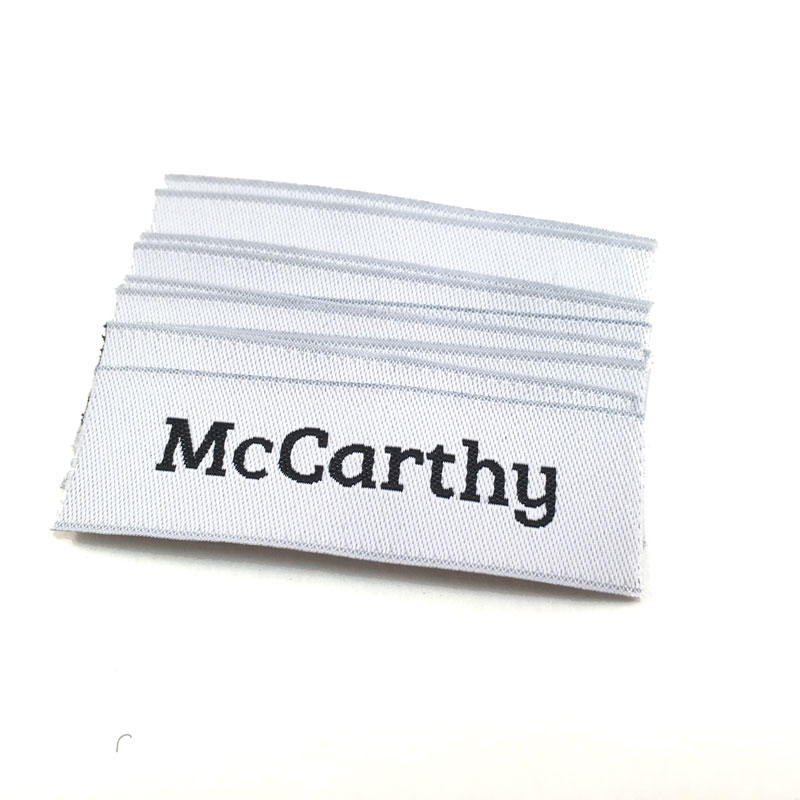 text only woven labels