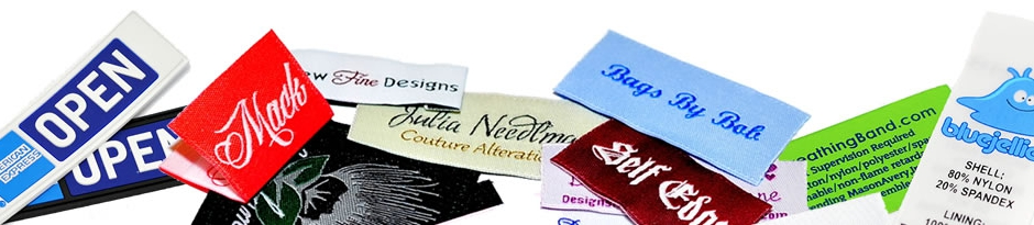 custom clothing labels woven printed pvc