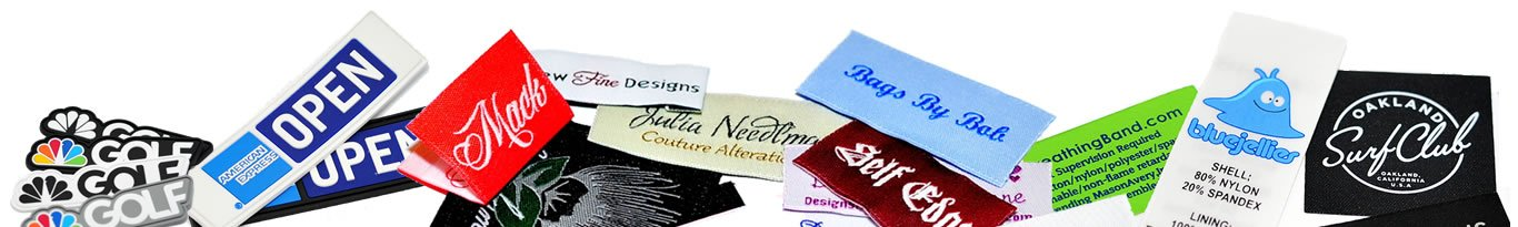 custom clothing labels woven printed pvc