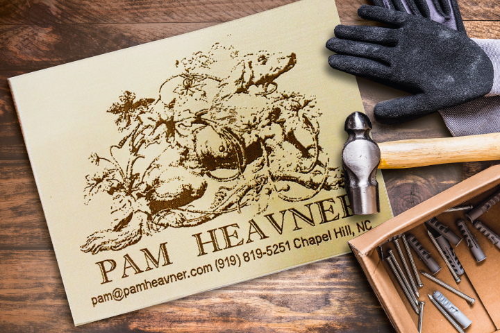 Pam Heavner Upholstery Label
