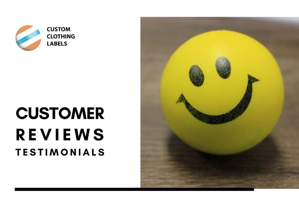 custom labels customer reviews testimonials